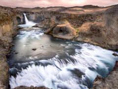 водопад, iceland, aldeyjarfoss