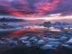 iceland, день, огонь