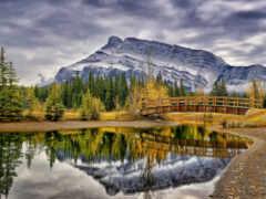 природа, канада, мост
