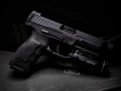 пистолет, firearm, фонарик