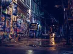 graffiti, стена, улочка