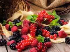 ягода, корзина, blackberry