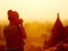 девушка, рассвет, travel