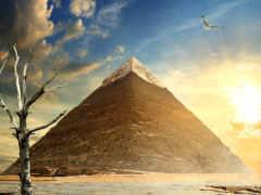 пирамида, картинка, египетский