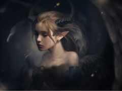 рогатый, gothic, демон