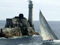 lighthouse, море, яхта