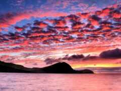 закат, небо, облако