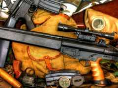 куча оружия