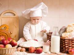 kitchen, meal, ребенок