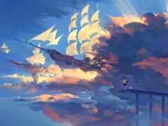 anime, scenery, landscape