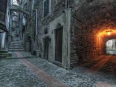 улица, арка, дверь