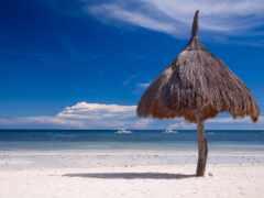 солнечный, пляж, ванна