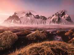 iceland, гора, vestrahorn