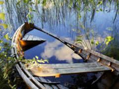 лодка, бросок, красивый