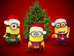 minions, christmas, iphone