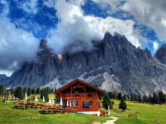 chalet, альпах, альпы