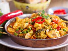 curry, verdura, rece