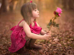 девушка, цветы, трюм