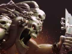 череп, monster, зарядка