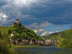 река, германия, castle