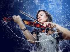 devushka, скрипка, скрипкой