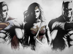 batman, superman, wonder