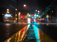 дождь, огни, асфальт