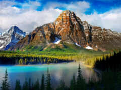 стена, музыка, гора