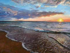 море, бриз, живопись