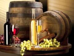 натюрморт, вино, бутылки