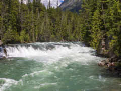 montana, glacier, waterfalls