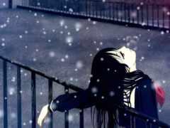 winter, девушка, anime