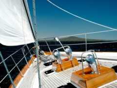 яхта, палуба, море