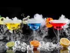 коктейль, лед, плод