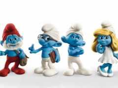 синие, человечки, smurfs