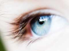 глаз, белый, фон