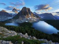 montañas, paisajes, лагос