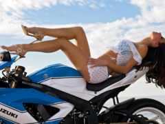 devushki, девушка, мотоцикл