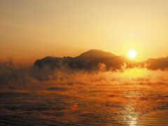 sun, rising, осень