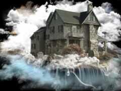 house, ужас, row
