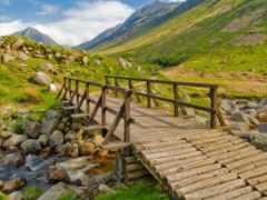 мост, сквозь, реку