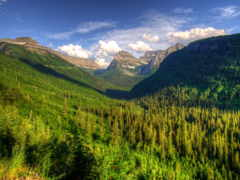 montana, mountains, glacier