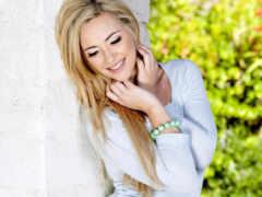 blonde, стене, sophia