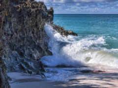 море, скалы, waves