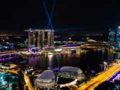 singapore, ночь, мегаполис