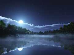 небо, луна, ночь