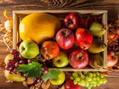 фрукты, производить, осень