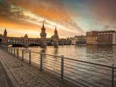 мост, berlin, река
