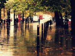 дождь, город, улица