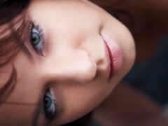 девушка, lip, глаза